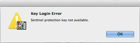 Key Login Error